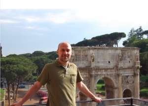 Mike Johnson at the Arch of Constantine, May 2008